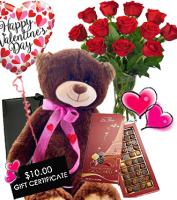 Dozen Red Roses with THE REALLY BIG DEAL Package