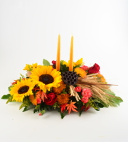 Fall Double Candle Centerpiece
