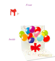 Balloons Pop-up Card
