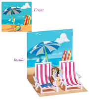 Beach Chairs Pop-up Card