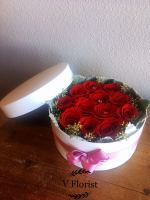 Assorted Roses in Round Box