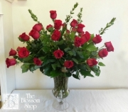 Three Dozen Roses in Elegant Urn