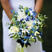 Blue Delphinium Bridal Bouquet