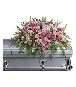 Telefloras Beautiful Memories Casket Spray