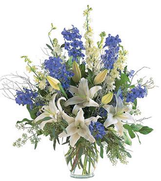 Elegant White & Blue Vase