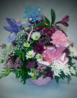 MOTHERS DAY ARRANGEMENT IN A BASKET