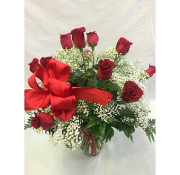 Pequa Valentine's Day Red Rose Vase 2B
