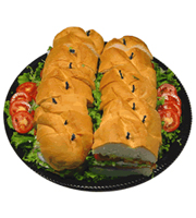 Turkey Club Sub Platter - 2 Foot, 14 Cut