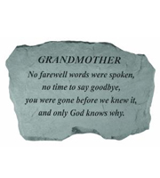Grandmother - No farewell words... Stone