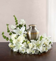 Cremation Wreath-All White