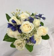 Roses and Delphinium Bouquet