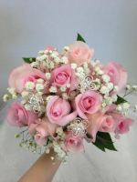 Dozen Rose Bouquet with Rhinestone Gem Accents