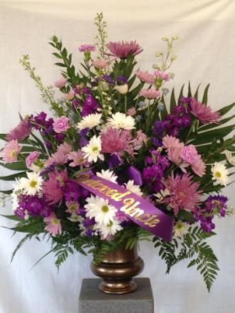 Lavender and White Arrangement