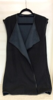 Ladies Long Black Vest