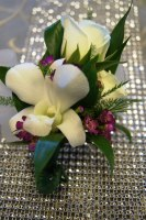 Orchid and Spray Rose Boutonniere