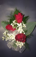 Three Sweetheart Rose Corsage
