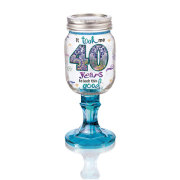 Rednek 40 Wine Glass