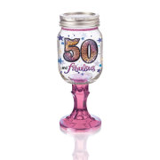 Rednek 50 Wine Glass