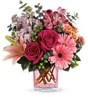 Painterly Pink Bouquet By Teleflora