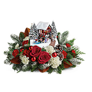 Teleflora's Thomas Kinkade's Snowfall Dreams Bouquet
