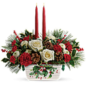 Telefloras Halls of Holly Centerpiece