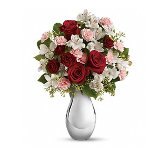 Teleflora\'s Crazy For You Bouquet With Red Roses