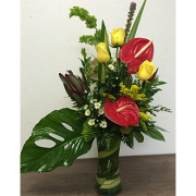 TROPICAL RED ANTHURIUM