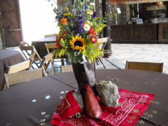 Ranch Theme Centerpiece