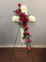 Thoughts and Prayers Cross by TLS Florist
