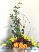 Golden Memories Memorial Tribute by TLS Florist