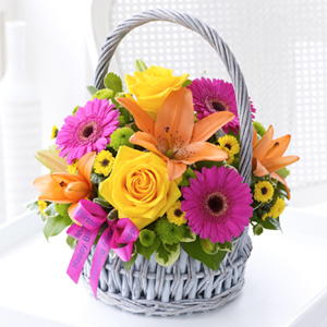 Vibrant Basket Arrangement
