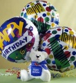 Birthday Balloons and a Bear