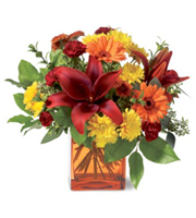 Autumn Awe, lilies, gerberas, chrysanthemums, carnations, eucalyptus, thanksgiving