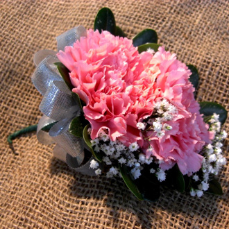 Carnation Corsage, corsages & boutonnieres
