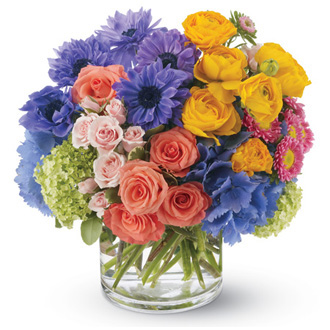 Spring Sonnet, roses, anemone, ranunculus, housewarming