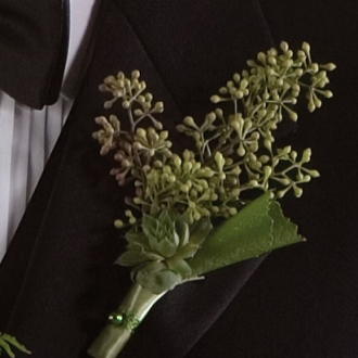 Irresistible Seeded Eucalyptus Boutonniere, eucalyptus berries, corsages & boutonnieres