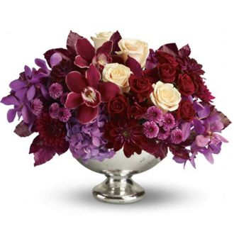 Lush and Lovely, hydrangea, orchids, roses, dahlias, mums, top of the line