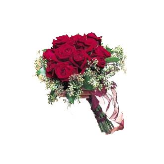 Rose and Eucalyptus Clutch, bridal bouquet