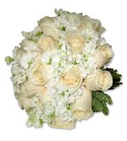 Cream Rose Bouquet, bridal bouquet