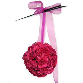 Pink Pomander, bridal bouquet