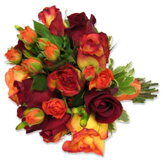 Autumn Rose Bouquet, bridal bouquet