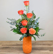6 Orange Rose Bouquet