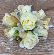 Golden Beauty Wrist Corsage