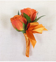Orange Crush Boutonniere