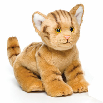 Chubby Orange Tabby Cat Plush