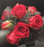 Ravishing Red Wrist Corsage