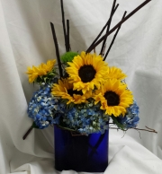 Sunflower and Hydrangea