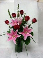 Roses w/Lilies