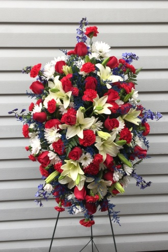 Patriotic Remembrance Standing Spray