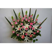 Super Star Rose Basket Arrangement